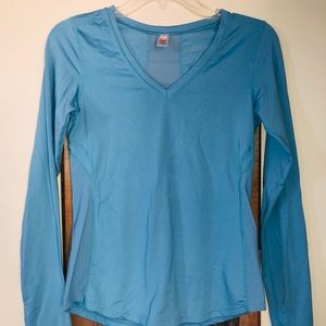 Lucy small blue long sleeve athletic top